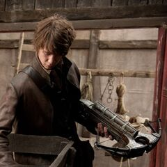 Hansel with weapons image.
