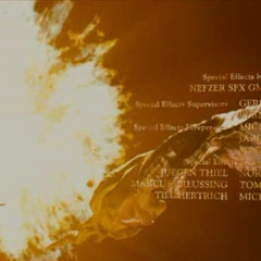 An explosion caused by the wand.