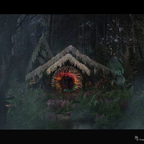Concept art of the Gingerbread House.