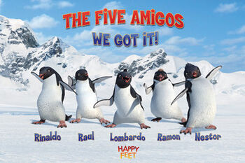 Happy feet the five amigos maxi poster