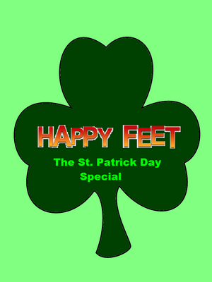 Happy Feet The St. Patrick's Day Special Logo