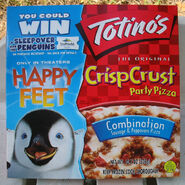 Happy Feet Totino's movie tie-in promotional penguin pizza