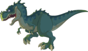 Green T-Rex from Club Penguin