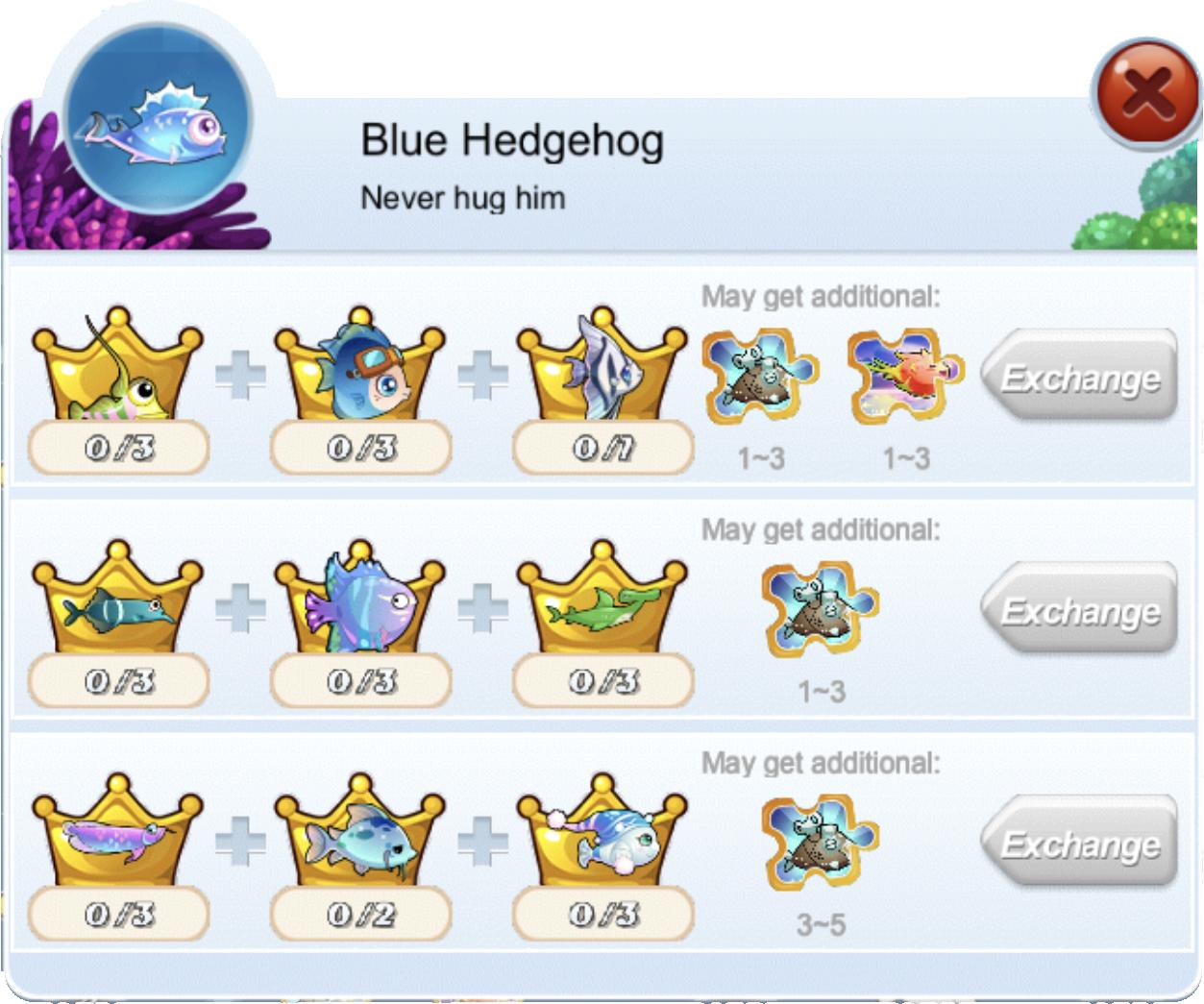 Blue Hedgehog | Happy Fish (iOS) Wiki | Fandom