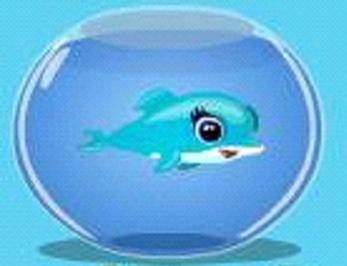 Dolphin from happy aquarium blue