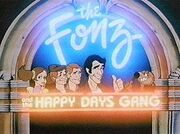 Fonz and Happy Days Gang