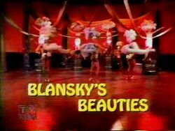 Blansky's Beauties title screen