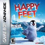 Happy Feet GBA Game Cover