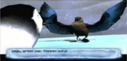Boss Skua steals Mumble's fish in Happy Feet (video game) level 10