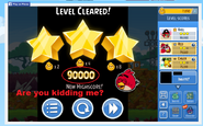 90000 score on Level 2 of Angry Birds Friends tournament