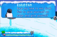 Estefan in silding level of the GBA game