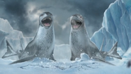 Happy Feet Two Video Game - Leopard Seals hearing the noise