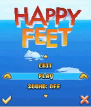Happy Feet Mobile Game Menu