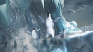Happy Feet Two Video Game - Mumble, Ramon and Erik after Leopard Seals' fall