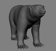 Polar bear model in Happy Feet 2 reel