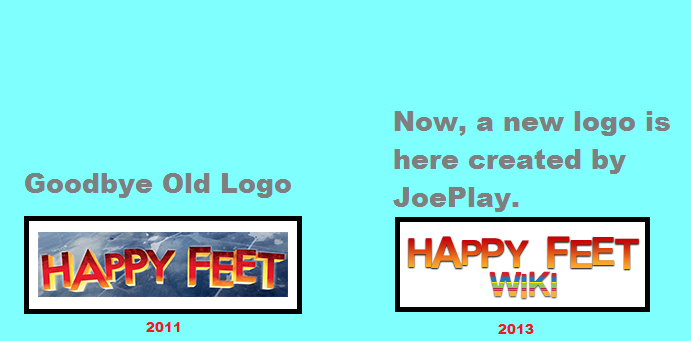 Old and New logos from the Happy Feet Wiki
