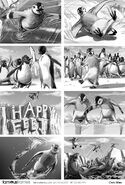 Chris Stiles' Happy Feet teaser storyboard