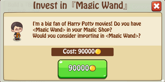 Invest Magic Wand
