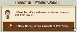 Magic Wand Earned