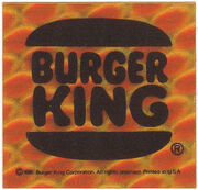 Burger King reflective bicycle sticker 1981