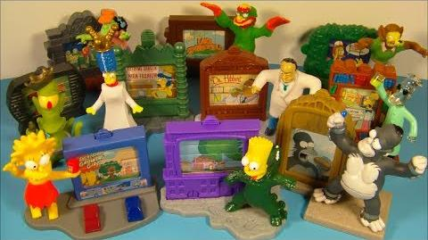 2002 THE SIMPSONS CREEPY CLASSIC'S SET OF 10 BURGER KING KID'S MEAL TOY'S VIDEO REVIEW