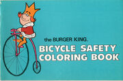 Burger King bicycle safty coloring book 1972