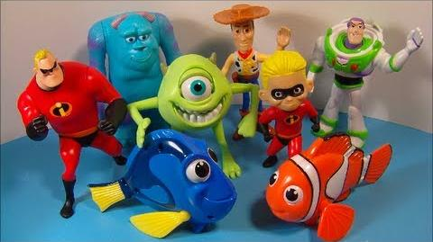 2005 DISNEY'S PIXAR PALS SET OF 8 McDONALD'S HAPPY MEAL MOVIE TOY'S VIDEO REVIEW