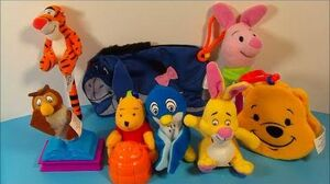 2001 DISNEY'S THE BOOK OF POOH SET OF 8 McDONALD'S HAPPY MEAL TOY'S VIDEO REVIEW