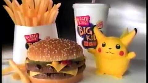 Burger King Pokemon Big Kids Meal Commercial (2000)