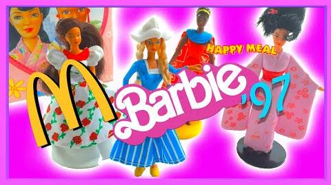 McDonald's BARBIE Happy Meal Toys (VERY RARE) - Complete Set from 1997 Unboxing from New! '90s Toys