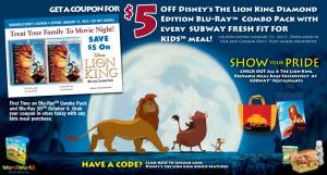 Subway 2011 Lion King