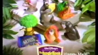 McDonalds Jungle Book Characters Commercial 1997