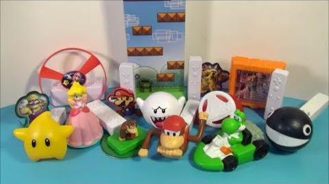 2008 SUPER MARIO NINTENDO Wii SET OF 10 BURGER KING KID'S MEAL TOY'S VIDEO REVIEW