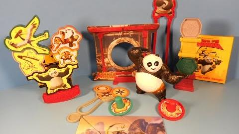 2014 KUNG FU PANDA SET OF 5 WENDY'S KID'S MEAL PLAY SET TOY'S VIDEO REVIEW