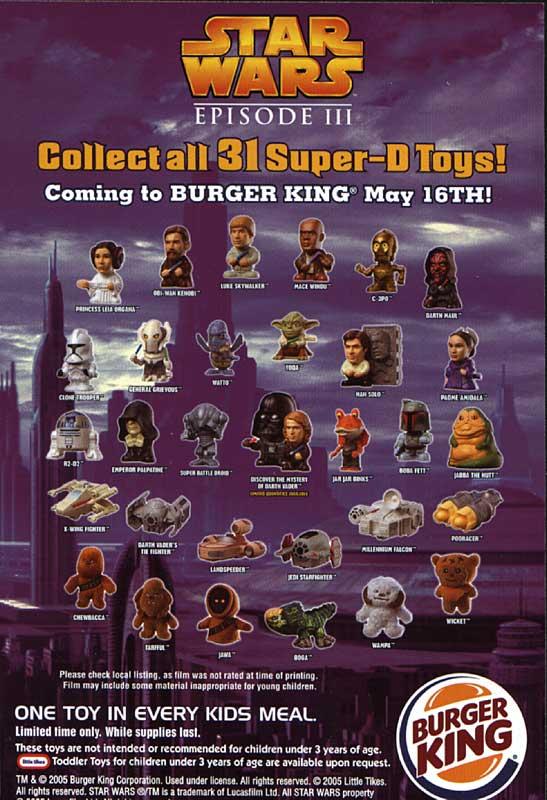 Star Wars Burger King Clone Trooper 2005 Episode 3
