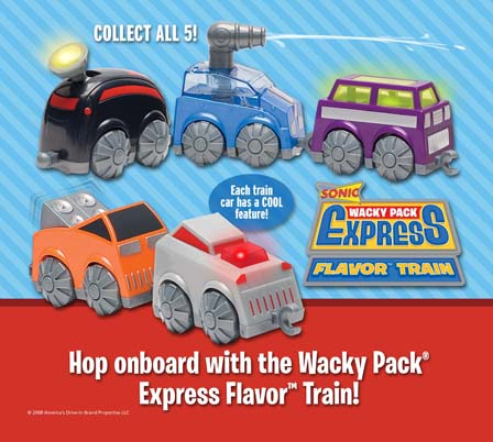 Wacky Pack Express Flavor Train Sonic 2008 Kids Meal Wiki