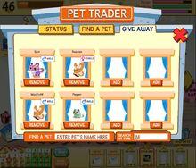 Pet Trader Screen