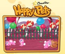 An Example of a Screenshot Taken by a Player that was Featured on the Happy Pets Opening Screen