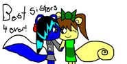 Best Sisters 4 Ever Gift by Jessy And Rachel