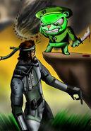 HTF Flippy versus Solid Snake by redadder515