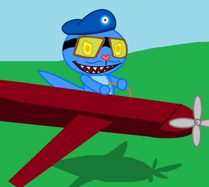 Spitfire flying
