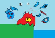 Explosion break of Kingfisher