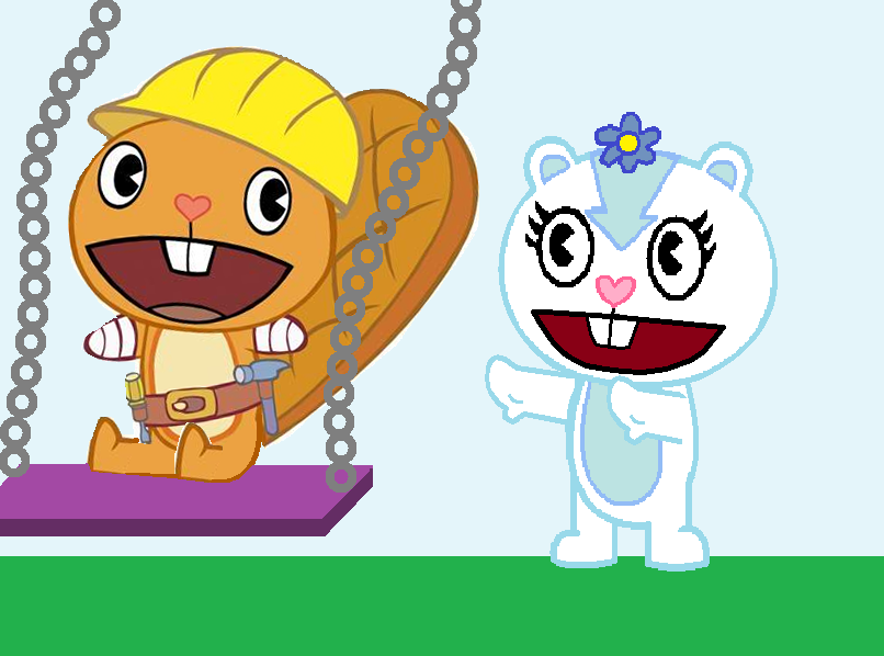 Pushing A Swing Clipart