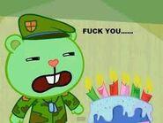 Flippy doesn t liek cake by nyangirshadow-d5tekz3
