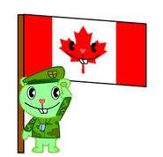 Htf flippy with happy tree kingdom flag by htfmegaman-d5xjv9n