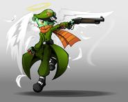 Angel with a shotgun by blindsnipefreelancer-d61n0ll