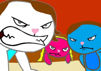 Kimberly, Sam, and Molly angry at Wendy