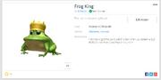 Frog king hat