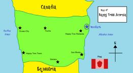 Happy Tree Acornia Map
