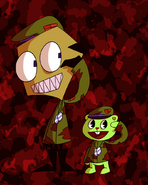 Zim and flippy by the white monster-d6htc8t